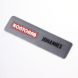 Namnbricka 0,7mm aluminium 20x75mm slipade